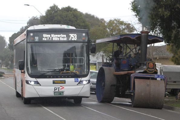 Ventura #1255 BS01XU on a route 753 service in Glen Waverley