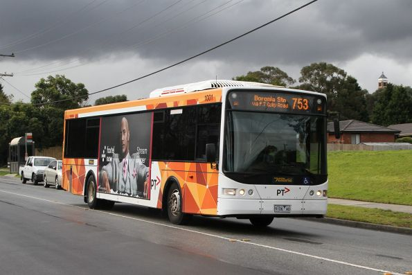 Ventura #1001 9106AO on a route 753 service in Glen Waverley