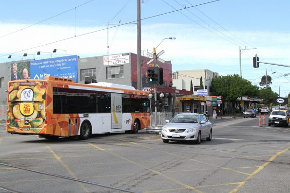 Ventura bus #1044 BS00BL southbound on route 767 along Poath Road, Hughesdale