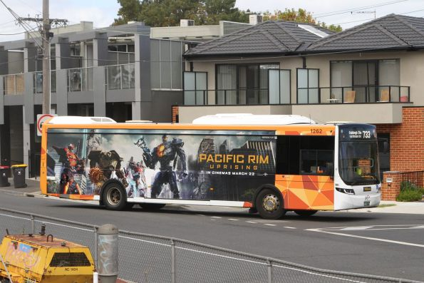 Ventura bus #1262 on route 733 at Oakleigh station