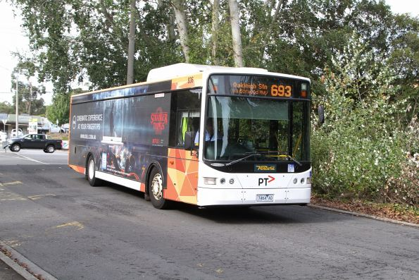 Ventura bus #836 7464AO arrives at Belgrave station on route 693