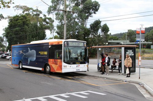 Ventura bus #837 7691AO on route 691 at Ferntree Gully station