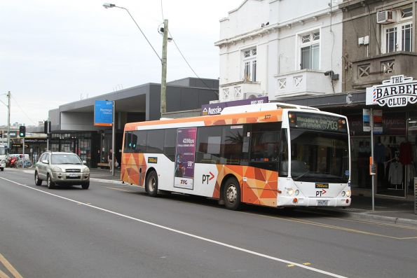 Ventura bus #877 5560AO on route 703 at Bentleigh station