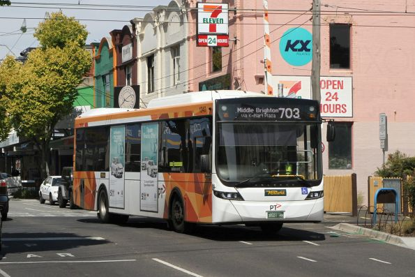 Ventura bus #1240 BS01MN on a route 703 service at North Brighton station