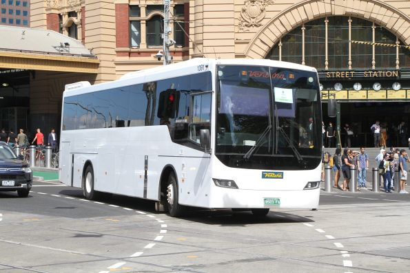 Ventura coach #1391 BS03FA at Swanston and Flinders Street