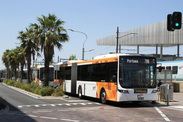 Ventura articulated bus #1271 BS02MF on route 788 at Frankston station