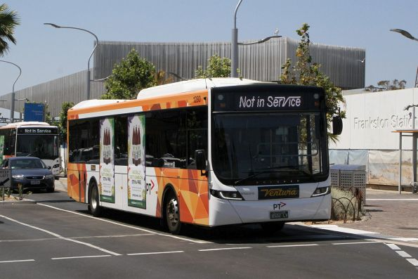 Ventura bus #1280 BS02LV out of service at Frankston station
