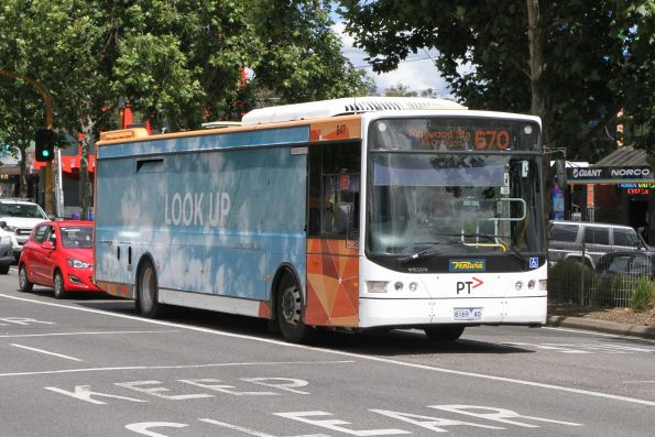 Ventura bus #847 8169AO arrives at Lilydale station on route 670