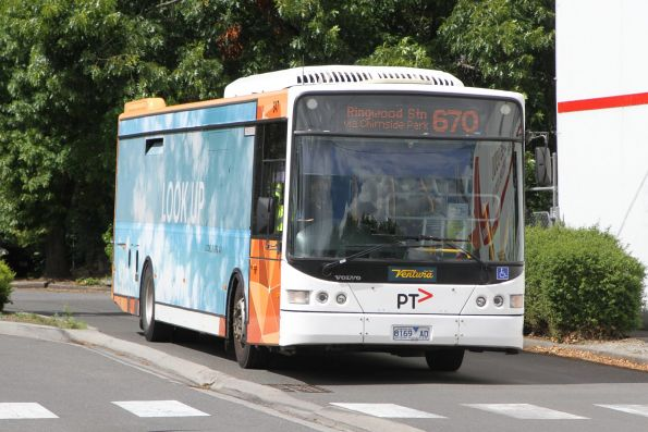 Ventura bus #847 8169AO departs Lilydale station on route 670