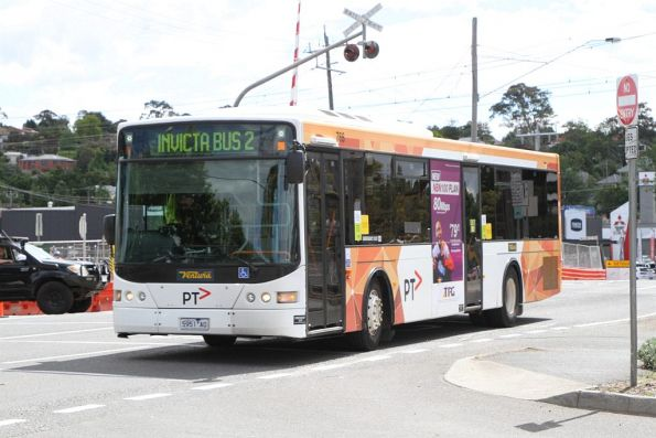 Ventura bus #766 5951AO arrives at Lilydale station on school run 'Invicta Bus 2'