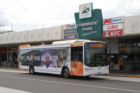 Ventura bus #855 9051AO on route 670 at Chirnside Park shopping centre
