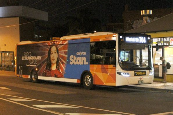 Ventura bus #1373 BS04YL on route 704 at Oakleigh station