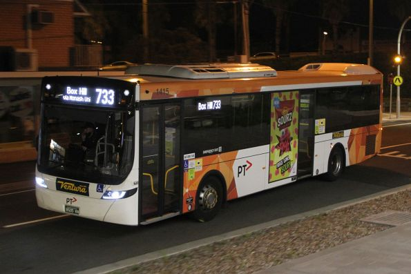 Ventura bus #1415 BS05KN on route 733 at Oakleigh station