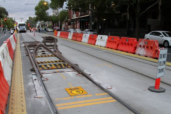 Temporary crossover in place at Nicholson and Gertrude Streets