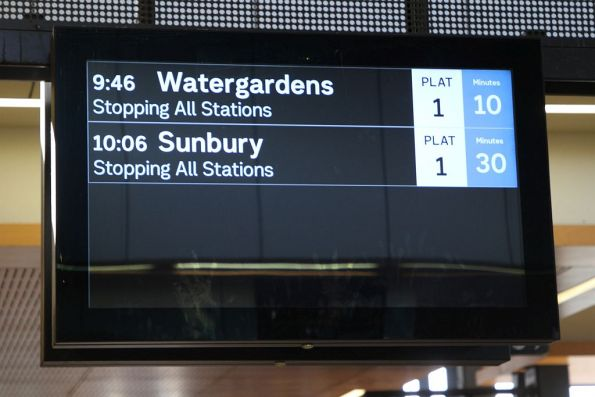 No signage at Sunshine station informing passengers of the service disruption towards the city