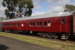 Newly restored Pullman carried 'Macedon' at Maldon