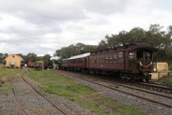 Down driver experience train passes the special at Muckleford