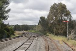 Crossover at Castlemaine linking the VGR tracks to the V/Line mainline