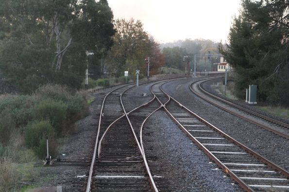 Crossover connecting the Victorian Goldfields Railway back to the mainline at Castlemaine