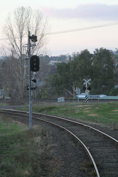 Signal CME16 not in use for up VGR trains approaching Castlemaine