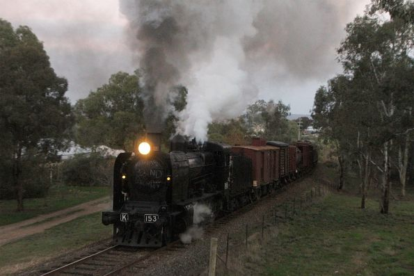 K153 heads past the photo line at Winters Flat
