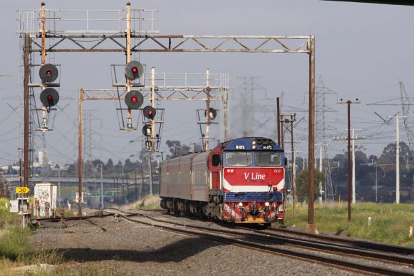 V/Line via the Albion-Jacana goods line