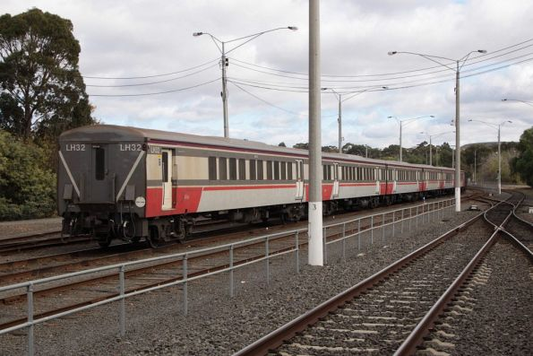 Carriage set LH33 stabled at Bacchus Marsh for the weekend