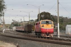 A66 runs around the carriage set in the yard at Bacchus Marsh