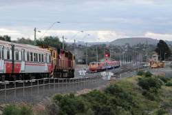 N465 arrives into Bacchus Marsh with a down empty car move from Melton