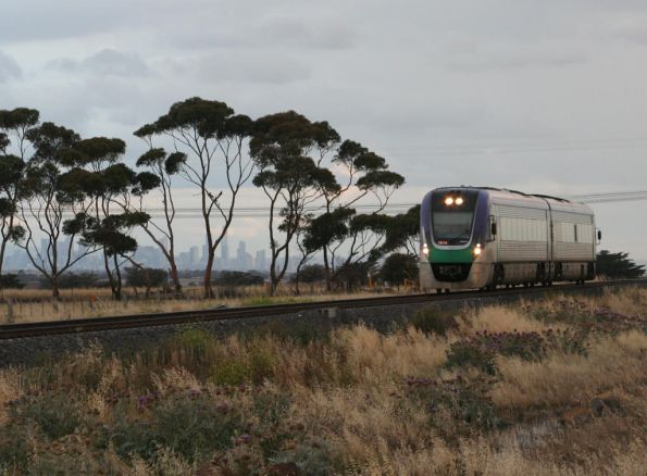 VL14 passes the Melbourne CBD skyline at Rockbank