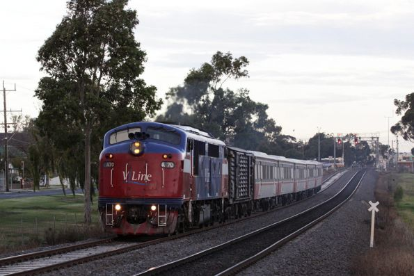 A70 departs Sunshine on the Western line bound for Bacchus Marsh