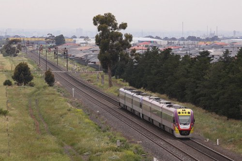 VLocity train bound for Melbourne at Deer Park