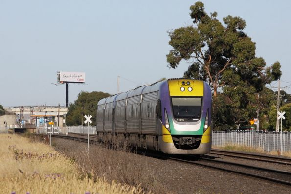 V/Line to Bacchus Marsh - 3VL23 leads a classmate out of Ardeer bound for Melbourne