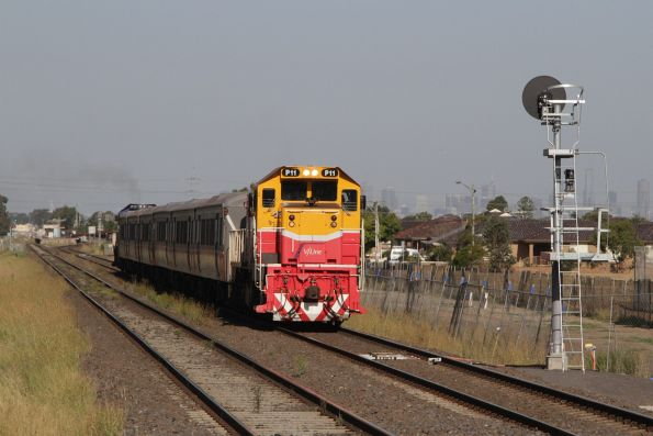 P11 departs Ardeer on a down Bacchus Marsh service