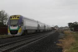 VLocity 3VL38 leads an up Ballarat service towards Sunshine