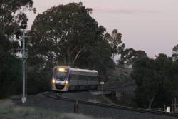 VLocity VL56 approaches Melton on a down express Ballarat service
