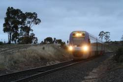 VLocity VL37 approaches Bacchus Marsh with a down Ballarat service