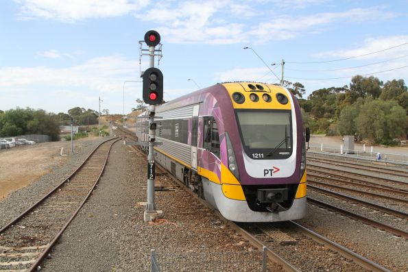 VLocity VL11 arrives into Bacchus Marsh with a terminating service