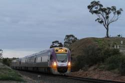 VLocity VL53 and classmate arrive into Bacchus Marsh on the down