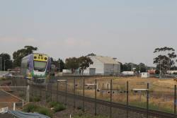 VLocity VL10 and VL26 pass track duplication works at the down end of Melton