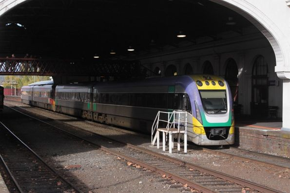 VLocity VL15 and classmate waiting to form an up service at Ballarat