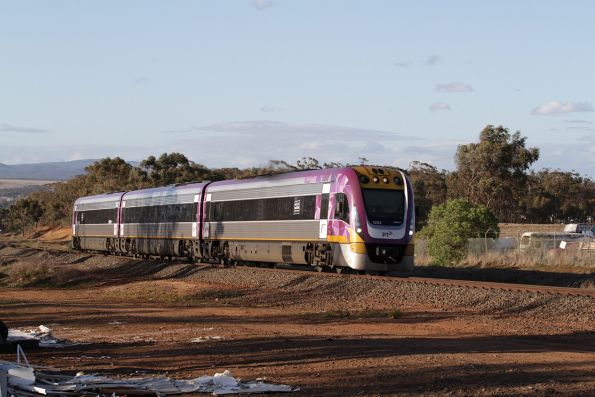 VLocity VL52 leads a down Ballarat service out of Bacchus Marsh