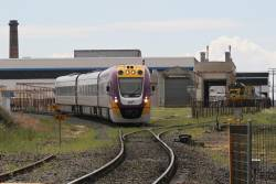 VLocity VL65 approaches North Ballarat Junction with an up Wendouree service