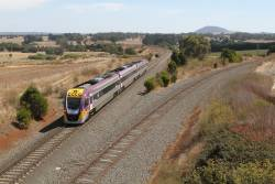 VLocity VL11 back on the move at Bungaree Loop East with an up Ballarat service