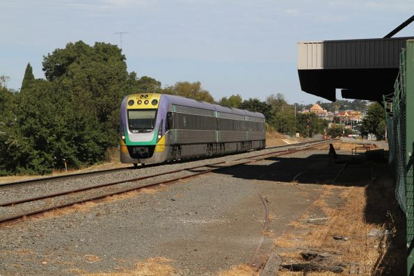 VLocity VL31 leads a down Wendouree service at North Ballarat Junction