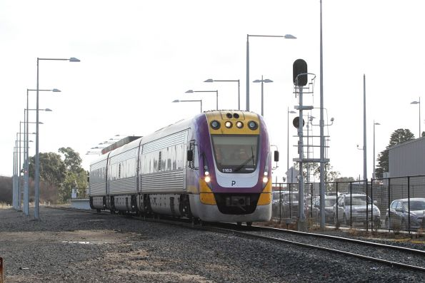 VLocity VL63 departs Wendouree station on the up