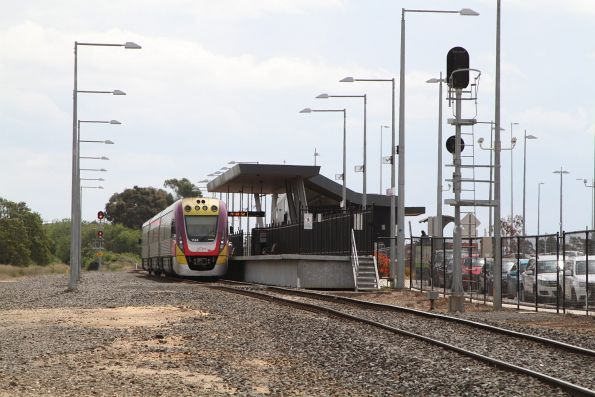 VLocity VL44 ready to form an up service at Wendouree