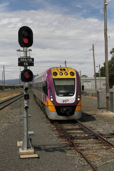 VLocity VL67 arrives into Ararat station on the down