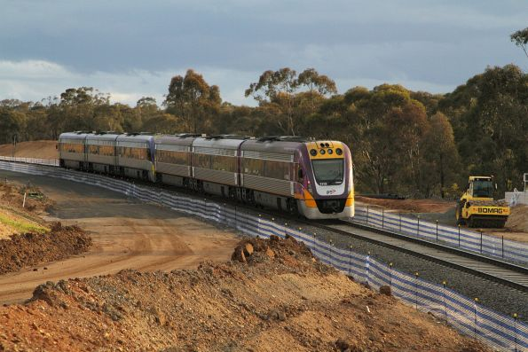 VLocity VL35 and VL13 climb out of Bacchus Marsh on a down Ballarat service
