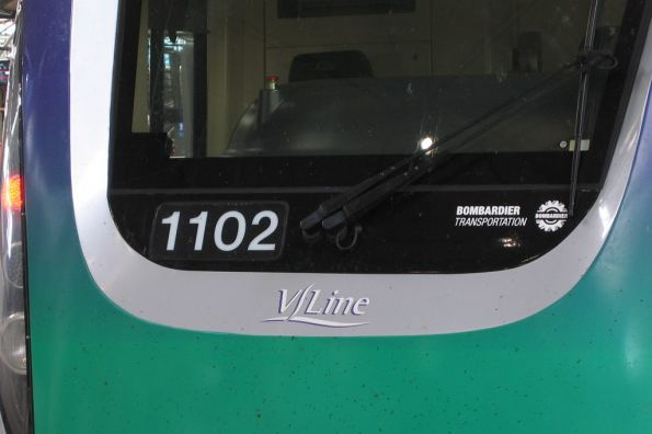 One-off 'Bombardier Transportation' logo on VLocity 1102